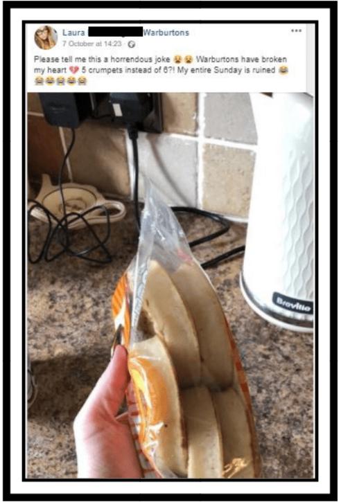 missing crumpets - warburtons